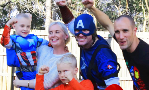 kids captain america party brisbane