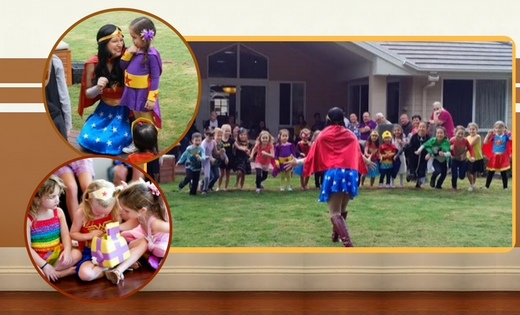 Kids Party Wonder Woman Queensland