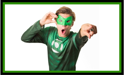 Green Lantern Ryder Birthday Party Entertainer in Brisbane and Gold Coast Children Justice League