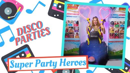 Platinum Disco Party Kids Birthday Party in Brisbane and Gold Coast Advanced Setup