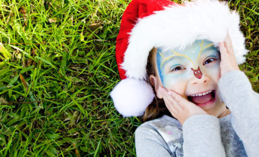 Christmas Holiday Face Painting for Kids and Adults Corporate Events in Brisbane and Gold Coast