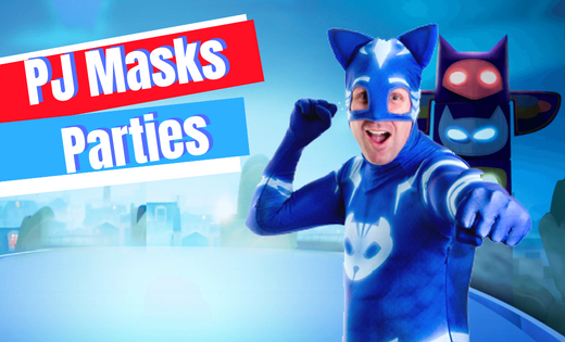 Children Boys Party PJ Mask Connor Themed Birthday Parties in Brisbane and Gold Coast Area Entertainment Birthday Party Actor