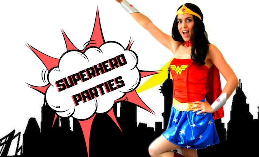 Wonder Woman Birthday Parties Children Entertainment Brisbane Gold Coast Super Party Heroes
