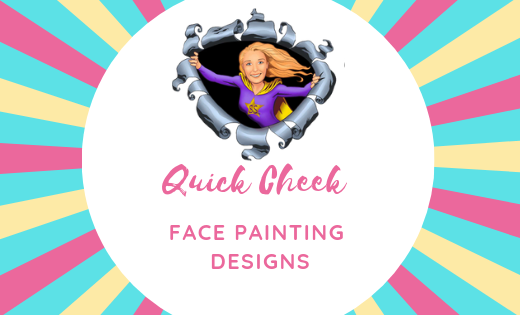 Simple Face Painting Designs for Corporate Events in Brisbane and Gold Coast Area