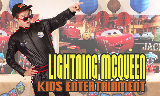 LIGHTNING MCQUEEN PARTY PACKAGES BRISBANE AND GOLD COAST SUPER PARTY HEROES CARS THEMED PARTY FOR KIDS SUPERSTEPH