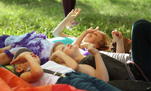Kids Under Parachute
