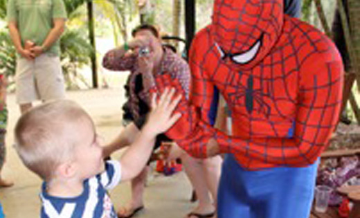 spiderman childrens party