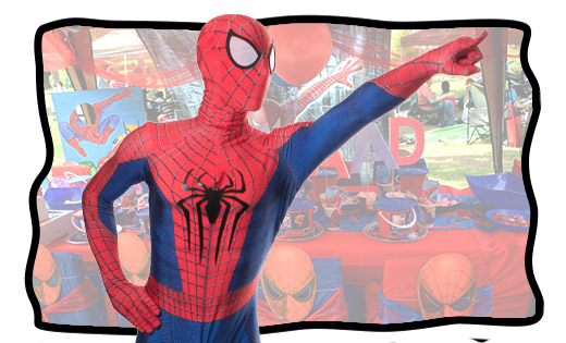 spider-man themed birthday parties in brisbane and gold coast