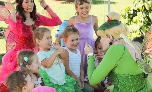 tink birthday parties performer