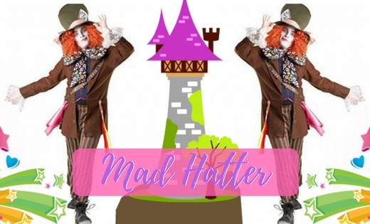 Mad Hatter Brisbane Gold Coast Wonderland Super Party Heroes Entertainers Kids Party