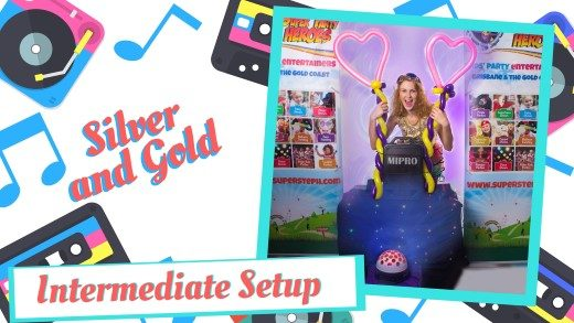 SILVER GOLD PACKAGE DISCO SET UP KIDS BIRTHDAY PARTIES IN BRISBANE AND GOLD COAST