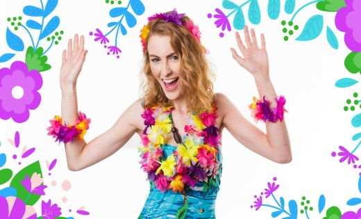 Luau Hawaiian Themed Hula Girl Kids Parties Birthday Game Show Super Party Heroes Brisbane Gold Coast Hawaiian Island