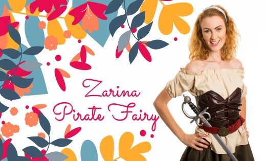 Zarina The Pirate Fairy Brisbane Gold Coast Fairy Themed Birthday Parties Children Party (Custom)