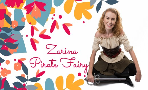Zarina The Pirate Fairy Brisbane Gold Coast Fairy Themed Birthday Parties Children Party Super Steph (Custom)