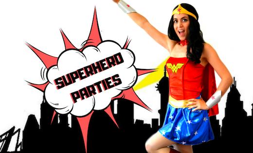 Wonder Woman Birthday Parties Children Entertainment Brisbane Gold Coast Super Party Heroes