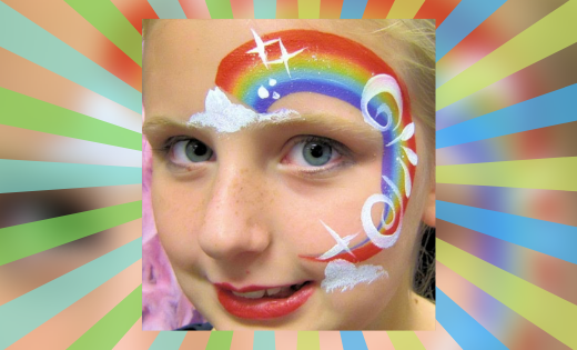 Super Party Heroes Super Steph Face Painting for Fete and Festivals in brisbane and gold coast