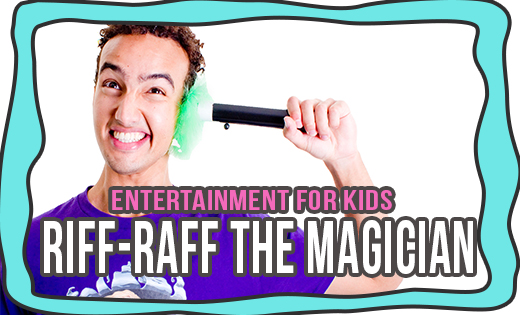RIFF-RAFF THE MAGICIAN SUPERSTEPH MAGICIANS IN BRISBANE MAGICIANS IN GOLD COAST BIRTHDAY PARTY KIDS MAGICIAN