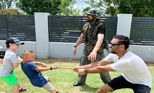 Army Parties brisbane gold coast kids birthday parties