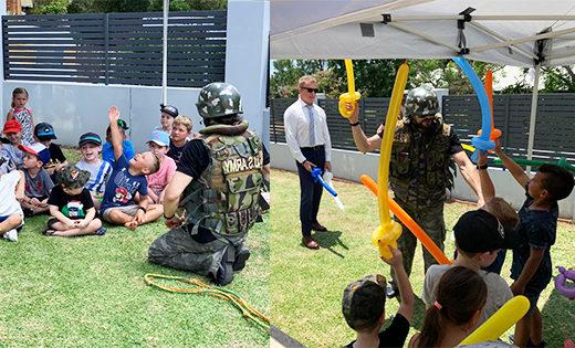 Birthday Themed Army Parties brisbane gold coast kids birthday parties