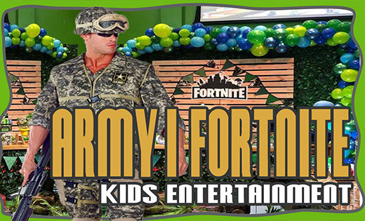 ARMY FORTNITE PARTY PACKAGE BIRTHDAY