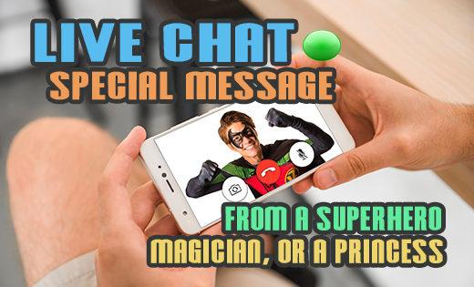 corona virus superhero video live chat birthday parties special superhero message