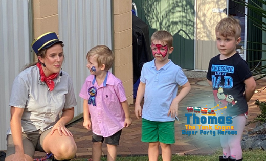 Thomas The Tank Engine Birthday Party Character for Hire in Brisbane Gold Coast